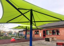 Oak Wood School Umbrella Install