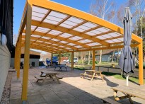 Warmwell Holiday Park - Timber Free Standing Canopy