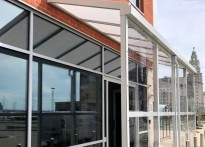 Commercial Site - Liverpool Waterfront - Wall Mounted Canopy