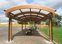 The Castle Primary School - Timber Dome Free Standing Canopy
