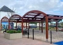 Ty Mawr Holiday Park - Triple Free Standing Timber Canopy
