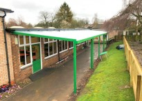 West Acre Infant School - Wall Mounted Canopy