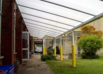 Holy Rood Catholic Infant School - Wall Mounted Canopy - 2nd Install