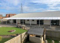Greenleas School - Wall Mounted Canopy
