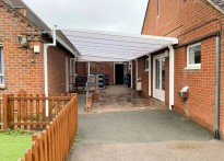 Hertingfordbury Cowper Primary School - Wall Mounted Canopy