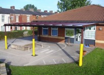 St Luke & St Philip's CE Primary School - Wall Mounted Canopy