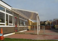Tithe Farm Lower School - Wall Mounted canopy