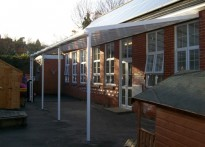 Wroughton Infant School - Wall Mounted Canopy
