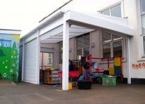 Maryport Infant School - Wall Mounted Canopy