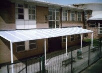 St George of England High School - Wall Mounted Canopy