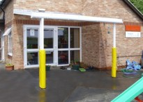 Tritlington CE First School - Wall Mounted Canopy