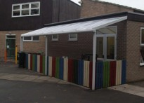 Newcastle Upon Tyne Church High School - Wall Mounted Canopy