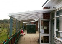 Harlands Primary School - Wall Mounted Canopies