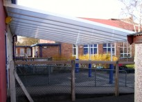 Thorn Grove Primary School - Wall Mounted Canopy - Second Installation