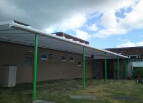 Montpelier Primary School - Wall Mounted Canopy