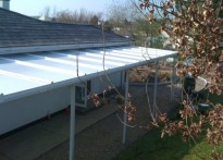 North Molton Primary School - Wall Mounted Canopy
