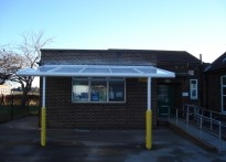 Manor Infant School - Wall Mounted Canopy