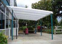 Notley High School - Wall Mounted Canopy
