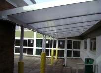 St Joseph's RC Primary School - Wall Mounted Canopy