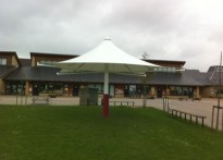 Great Dunmow Primary School - Umbrella Canopy - 1st Installation