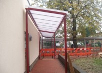 Hatch End High School - Wall Mounted Canopy
