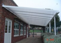 Hangleton Infant School - Wall Mounted canopy