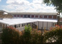 Lessness Health Primary School - Wall Mounted Canopy