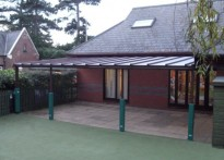 The Firs School - Wall Mounted Canopy