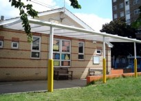 St Paul's C of E Primary School - Wall Mounted Canopy