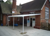 High Beech C of E Primary School - Wall Mounted Canopy