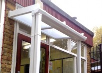 Swiss Cottage School - Wall Mounted Canopy