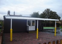 Highwood Primary School - Wall mounted canopy