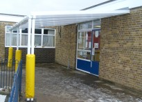 Kingswood Infant School - Wall Mounted Canopy