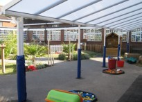 Lexden Primary School - Wall Mounted Canopy