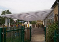 Moreton C of E Primary School - Wall Mounted Canopy