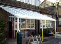 Winton Primary School - Wall Mounted Canopy