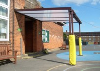 Marsh Green School - Wall Mounted Canopy