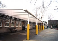Woodrange Infant School - Wall Mounted Canopy