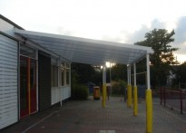 Perryfield Infant School - Wall Mounted Canopy
