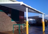 Philip Morant School - Wall Mounted Canopy install