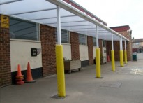 Ripple Junior School - Wall Mounted Canopy