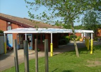 Ryedene Community Primary School - Wall Mounted Canopy