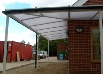 Shalford Primary School - Wall Mounted Canopy