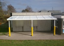 Spring Meadow Primary School - Wall Mounted Canopy - 2nd Install