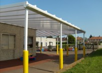 Spring Meadow Primary School - Wall Mounted Canopy