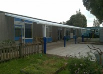St George's Infant School - Wall Mounted Canopy