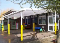 St Joseph's Catholic Primary School, Harwich - Wall Mounted Canopy