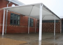 Tabor Science College - Free Standing Tensile Canopy