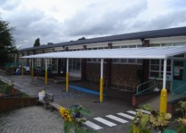 Temple Sutton Primary School - Wall Mounted Canopy