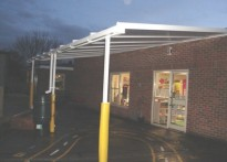 Theydon Bois Primary School - Wall Mounted Canopy
